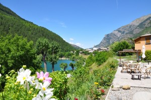 Plans d'eau et piscines des Alpes de Haute-Provence :  Lac du Lauzet sur Ubaye