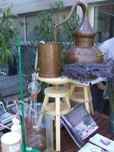 Alambic dans les utilisations de la lavande