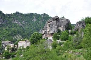 Curiosités géologiques Grès d'Annot
