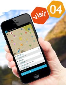 Site mobile de séjour Visit 04 et  livre augmenté Eau en couleur !