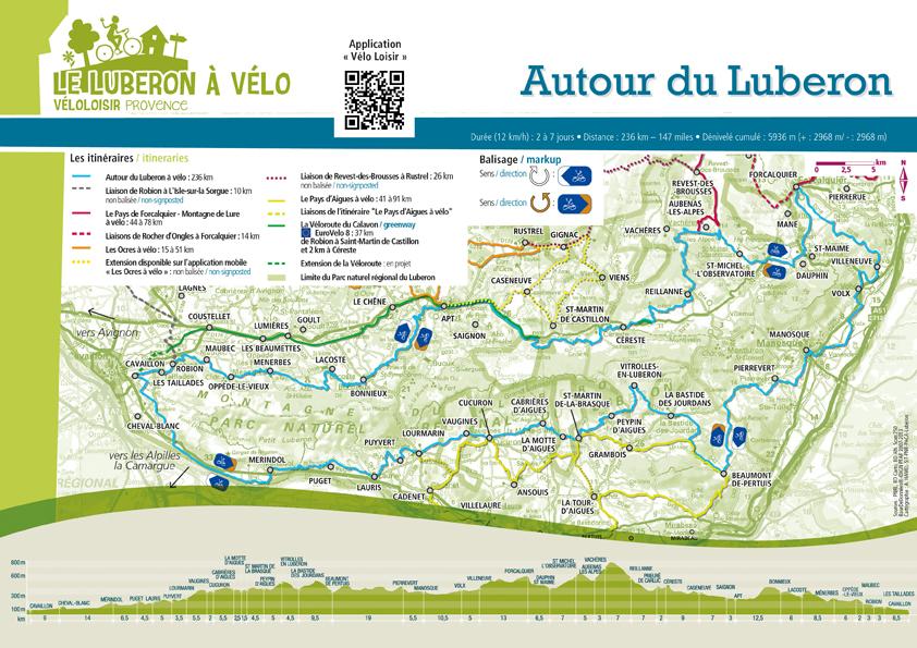 Carte Le Luberon à vélo Itinérances à vélo