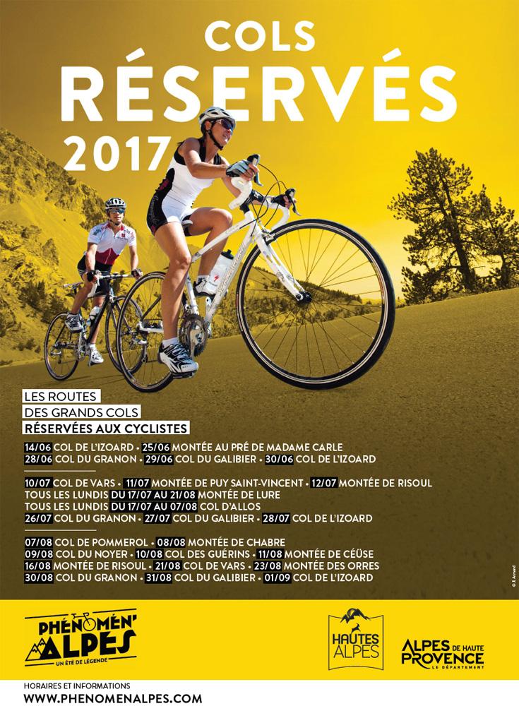 Cols réservés aux cyclistes