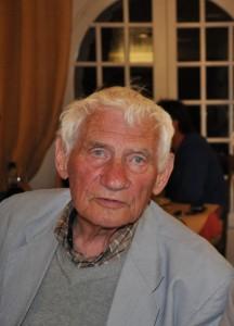 L'écrivain Pierre Magnan en visite à Forcalquier