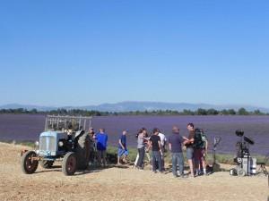 Tournage du film Mal de pierres de Nicole Garcia sur le plateau de Valensole en juillet 2015
