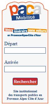 PACA Mobilité de la région Provence Alpes Côte d'Azur