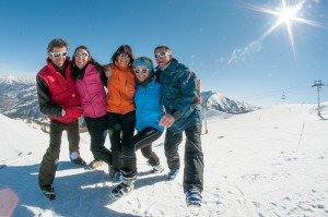 ski entre amis alpes de haute provence