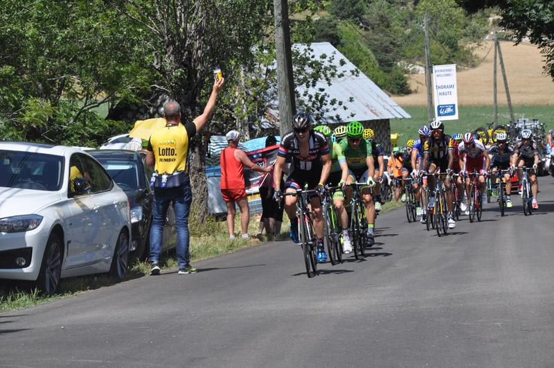 Coureurs sur le Tour de France