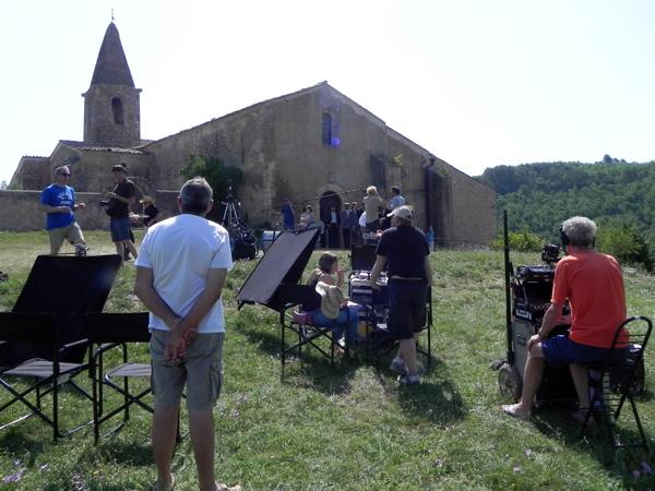 A Saint-Martin de Brômes. Tournage du film Mal de pierres de Nicole Garcia sur le plateau de Valensole en juillet 2015 Photos ©CFAS