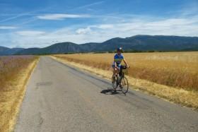 Vélo sur le Plateau de Valensole / Gréoux-les-Bains