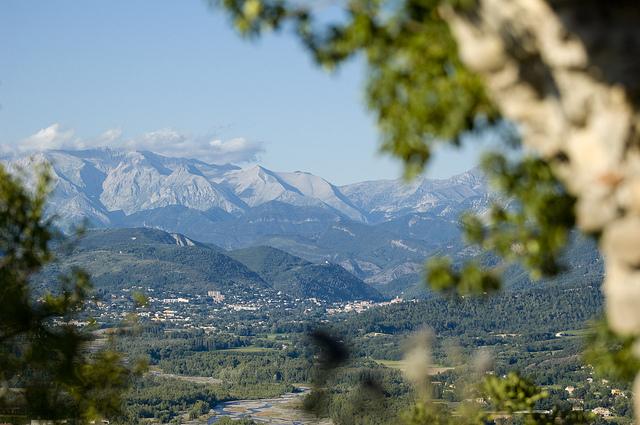 Route Napoléon : vue de Digne les Bains