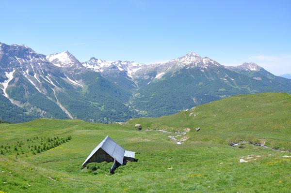 Paysage des Alpes Mercantour