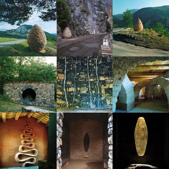 Refuge d'Art Andy Goldsworthy : Refuge d'art mosaïque au Musée Gassendi