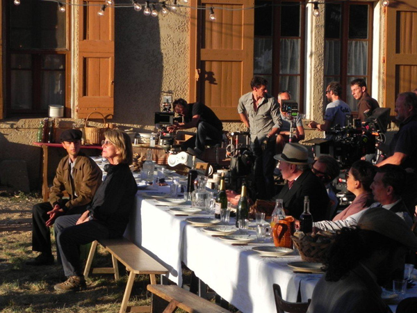 Tournage du film Scène de fête sur le plateau de Valensole en juillet 2015 Photos ©CFAS