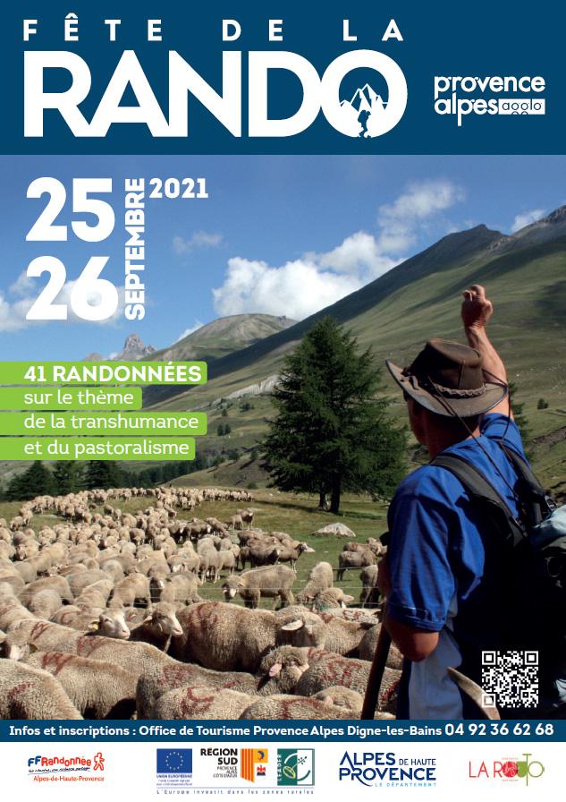 Fête de la randonnée, les 25 et 26 septembre 2021 sur le territoire de Provence Alpes Agglomération