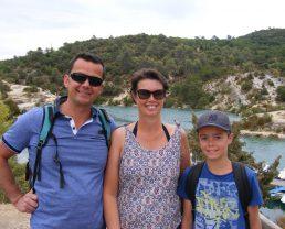 Christelle et Franck L. & leur fils dans les gorges du Verdon