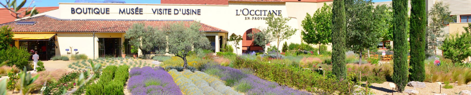 Les jardins de L'Occitane à Manosque ©S.Schlaeintzauer