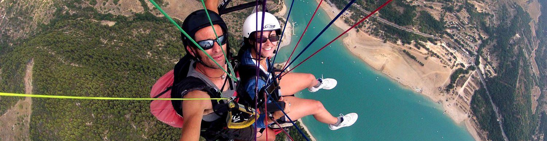 Parapente dans le Verdon ©Roc n Vol - sports aériens
