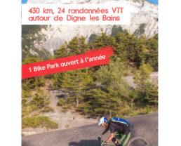 430 km, 24 randonnées VTT autour de Digne-les-Bains