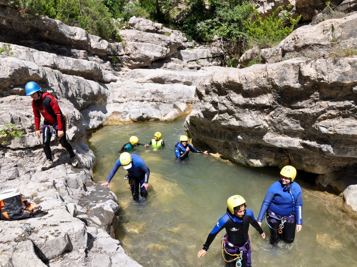 canyon Baou Verdon : sports d'eau vive