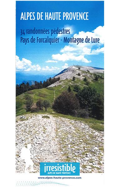 carte Pays de Forcalquier et la montagne de Lure – 30 promenades et randonnées
