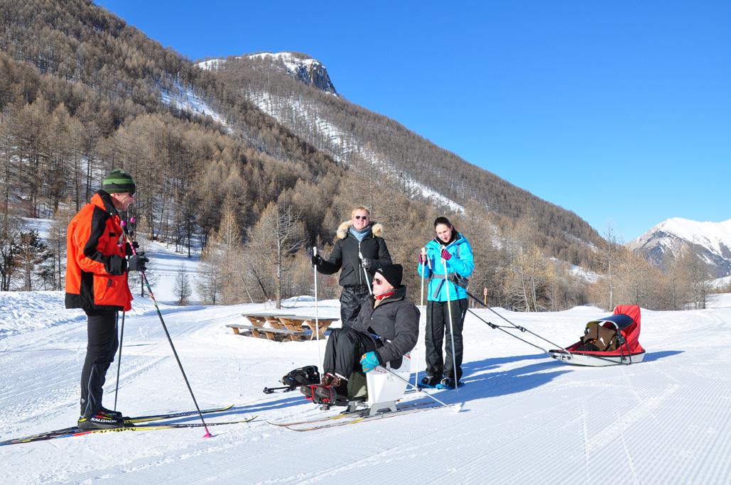 Handi ski nordique Larche