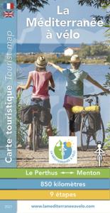 carte touristique générale de La Méditerranée à vélo