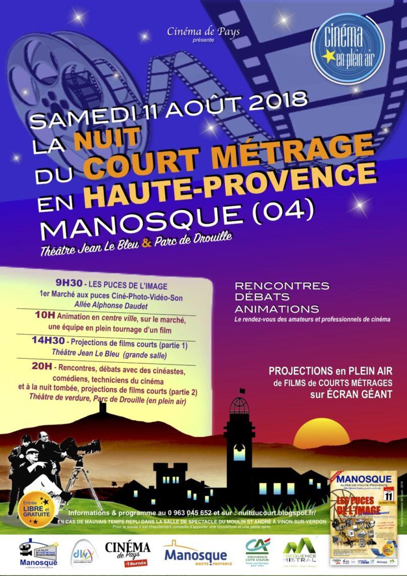 La nuit du court-métrage en Haute-Provence à Manosque - 11 août 2018