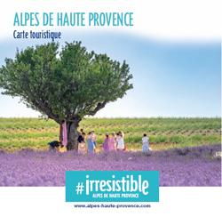 Carte touristique des Alpes de Haute Provence (04)