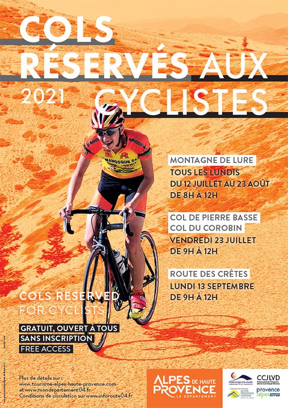Cols réservés aux cyclistes 2021