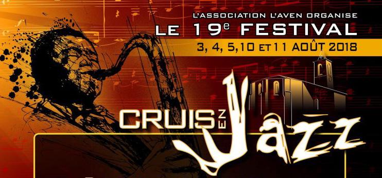 Cruis en jazz à Cruis - du 3 au 11 août 2018