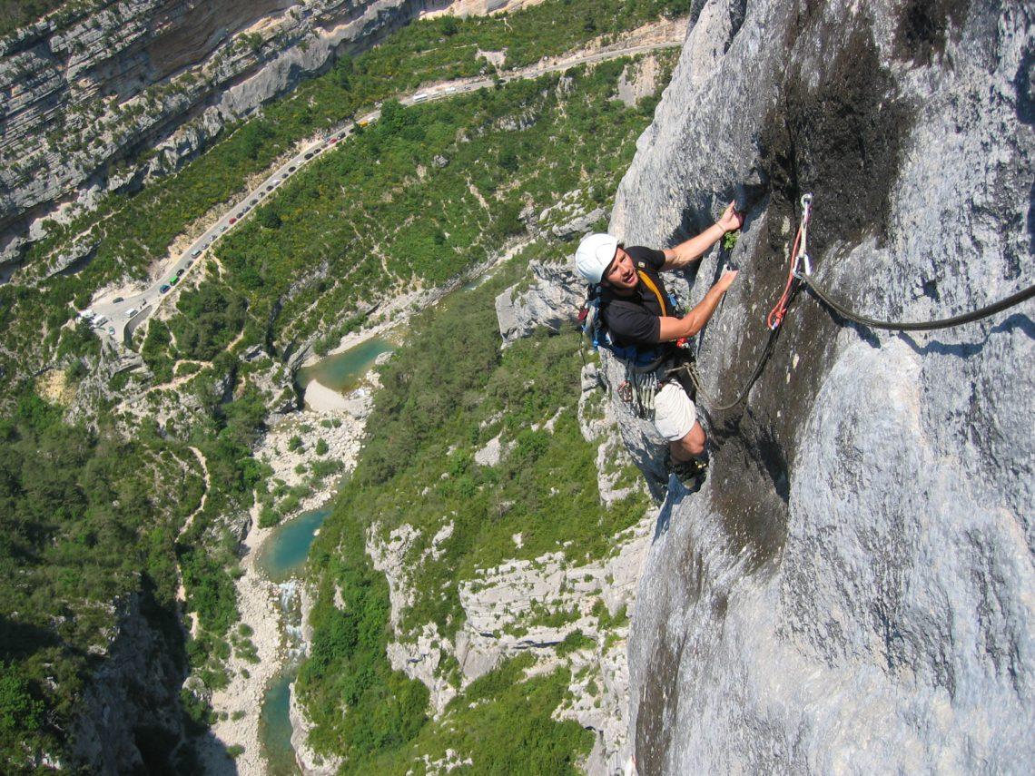 Escalade dans les Gorges du Verdon ©Lionel