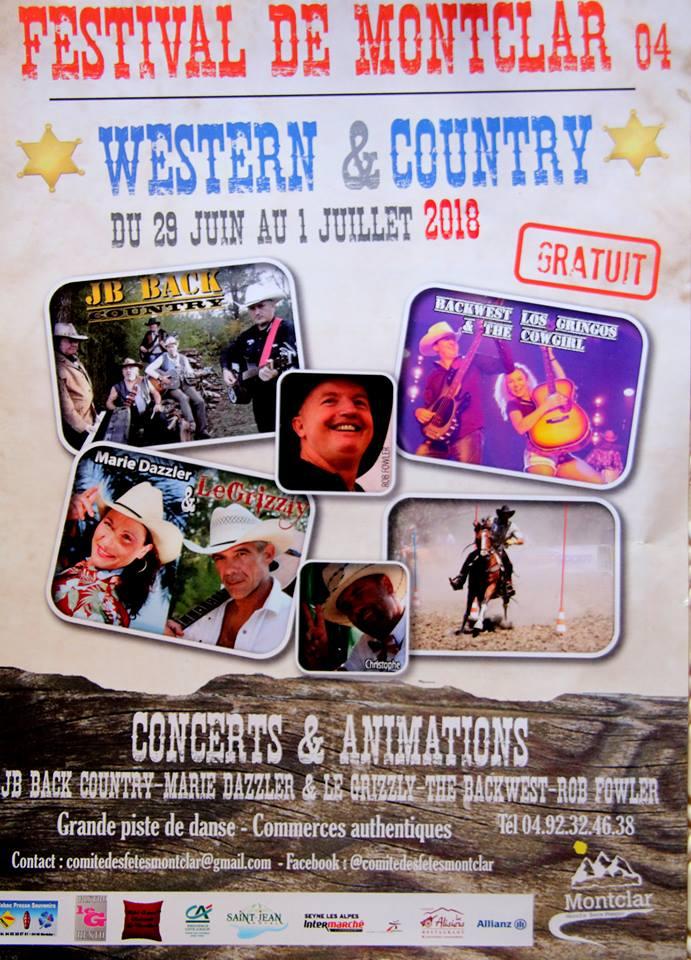 Festival Country de Montclar - du 29 juin au 1er juillet 2018