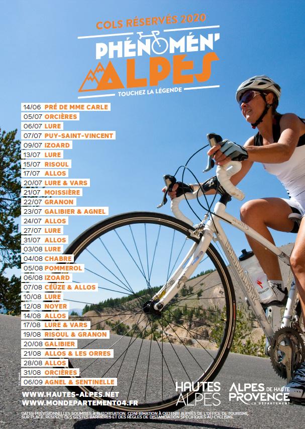 cols réservés aux cyclistes 2020