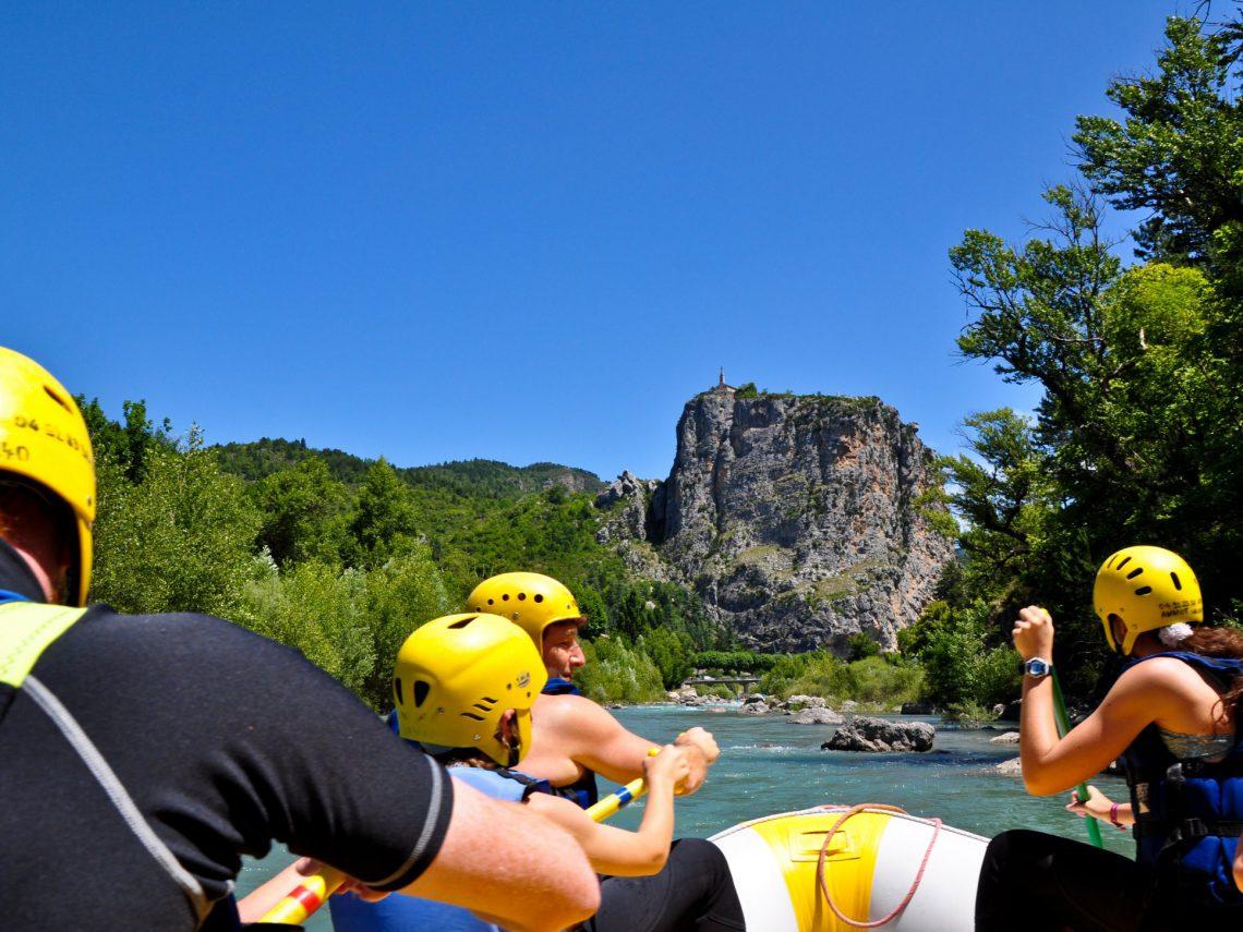 rafting sur le Verdon : sports d'eau vive