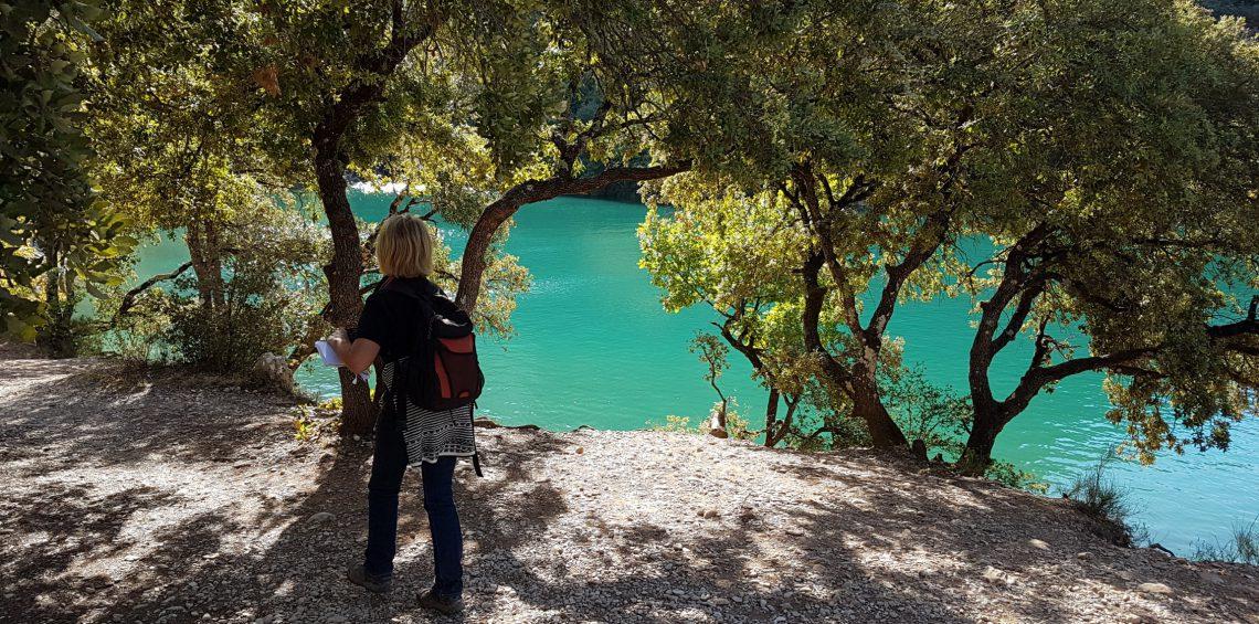 randonnée au lac d'Esparron de Verdon