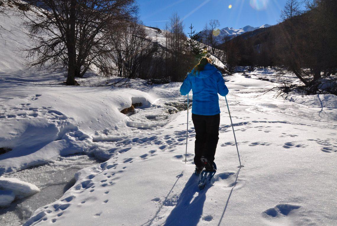 raquettes à neige à Val d'Oronaye Larche