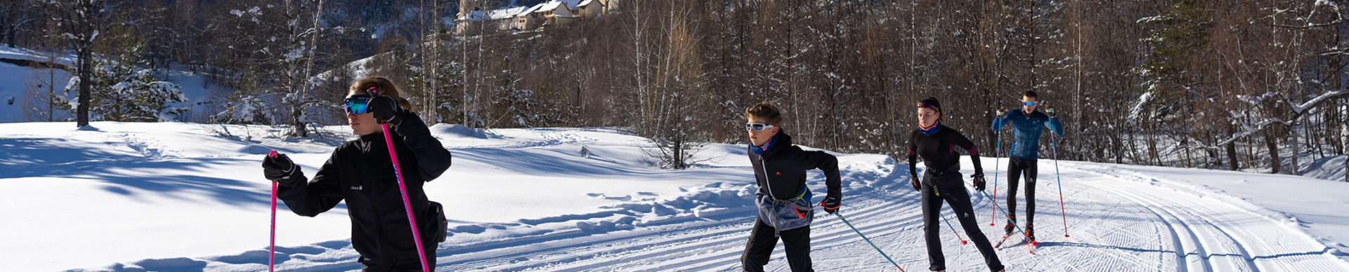Ski de fond en Haute Ubaye ©AD04-Rogier Van Rijn