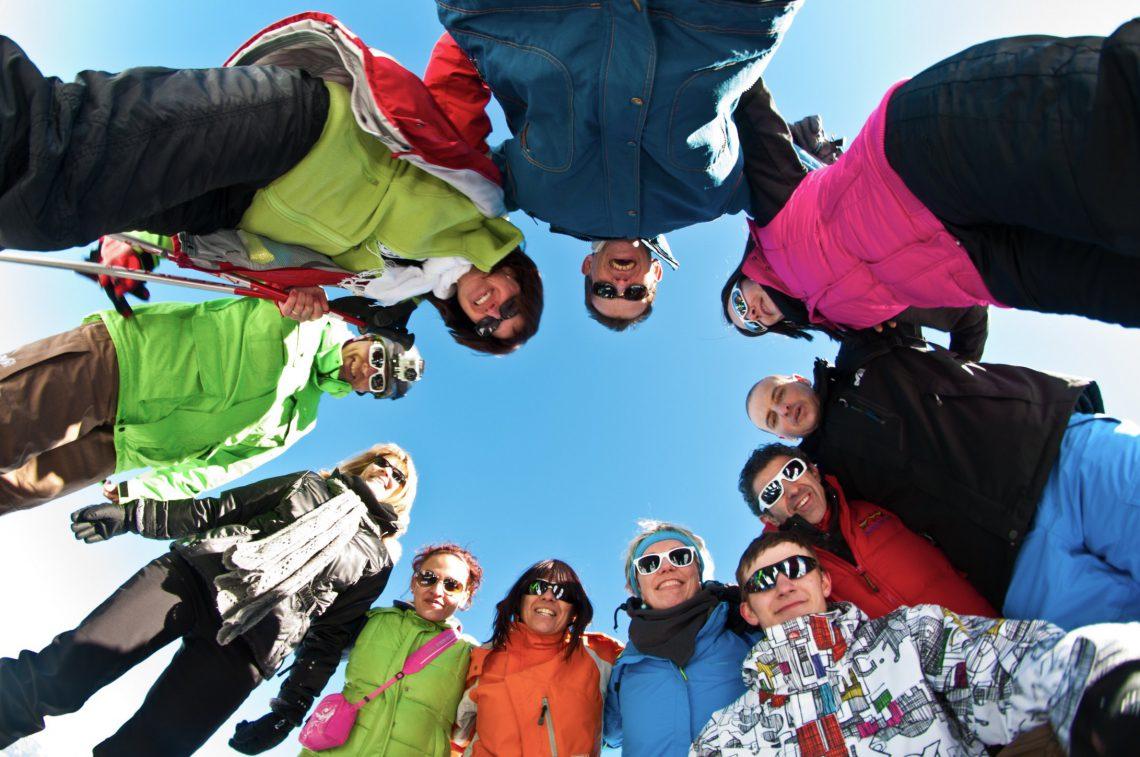 Entre amis à la neige