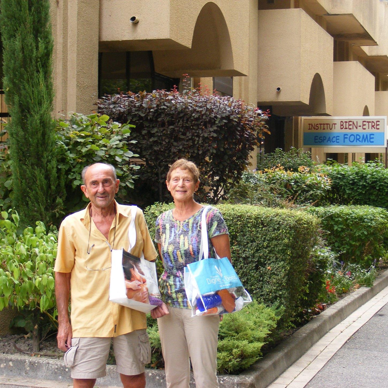 Nicole et Marcel C. aux Thermes de Digne-les-Bains