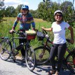 Caroline C. et Bruno R. à vélo