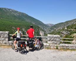 cyclotourisme sur la route des crêtes
