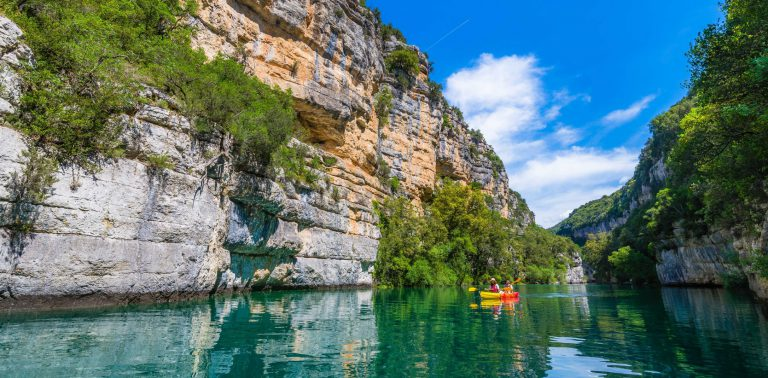 Canoe dans les Gorges de Montpezat ©Teddy Verneuil