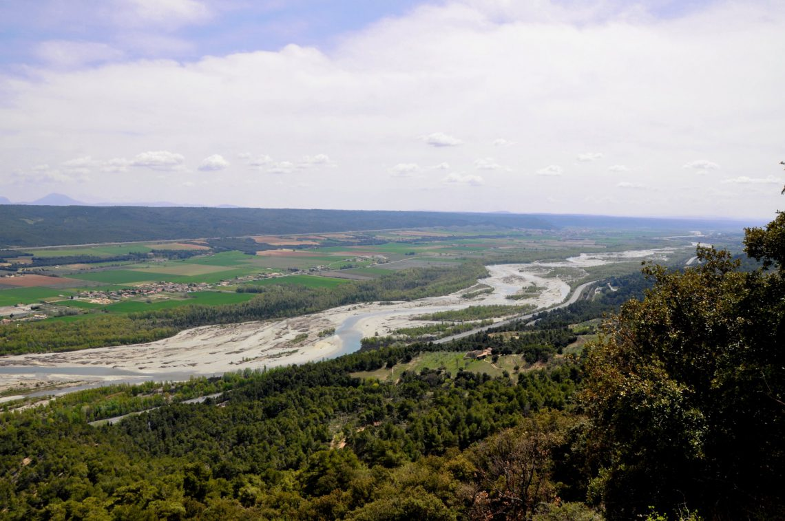 vallée de la Durance vue de Ganagobie
