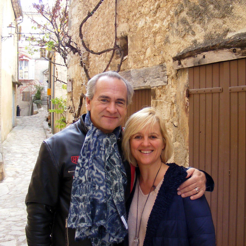 Sylvie B. et Antoine R. à Simiane-la-Rotonde