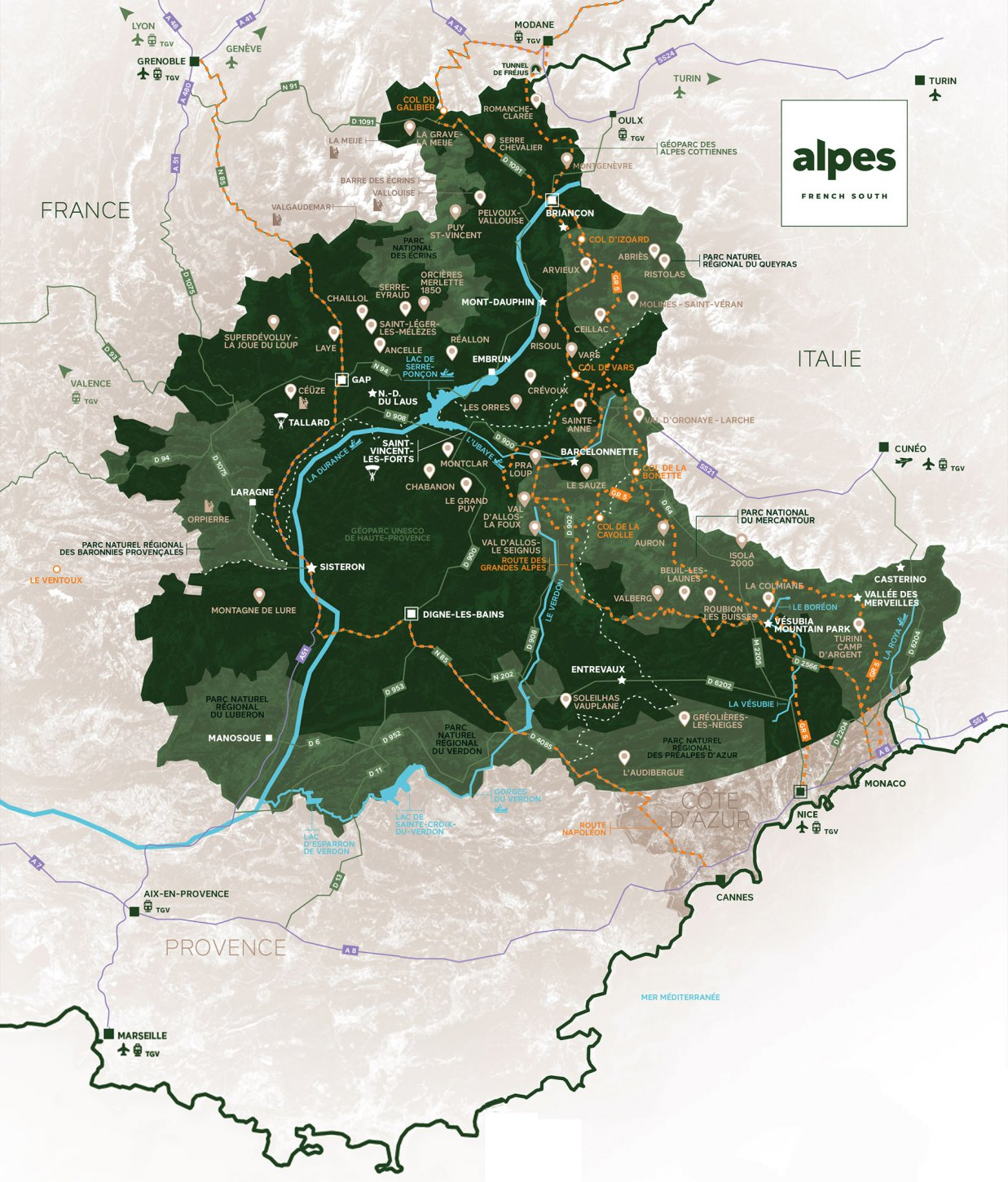 carte marque Alpes French South purealpes