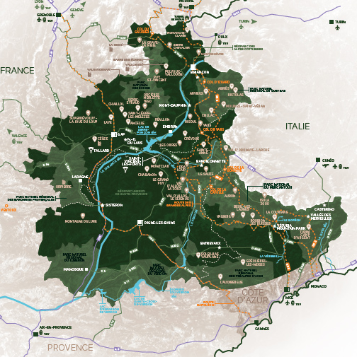 carte de la Marque Alpes
