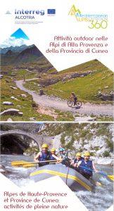 La carte Alpes de Haute-Provence et Province de Cuneo : activités de pleine nature