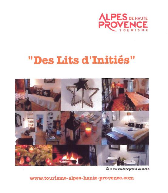 Dossier de Presse Hébergements de charme Alpes de Haute-Provence