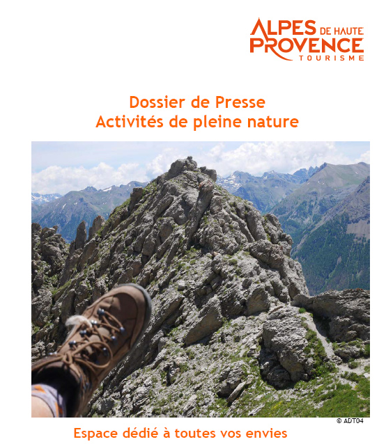 Dossier de Presse Activités de pleine nature dans les Alpes de Haute-Provence
