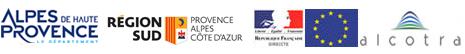 Logos des partenaires financiers de l'Agence de Développement des Alpes de Haute-Provence AD 04